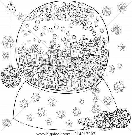 Winter Pattern For Adult Coloring Book