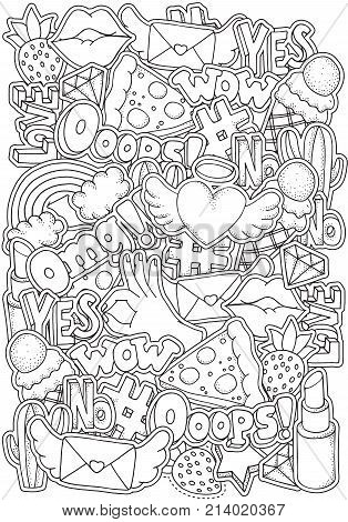 Coloring Book Page Vector Photo Free Trial Bigstock