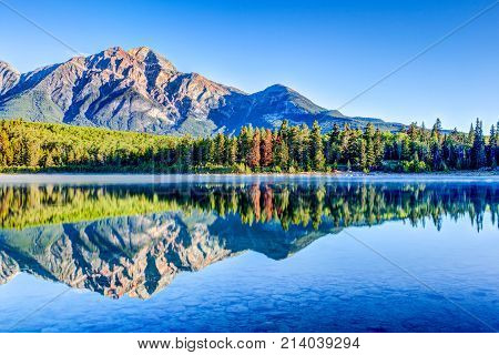 Patricia Lake At Jasper National Park In Alberta, Canada