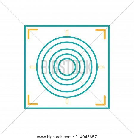 line gun sight circle with shooting focus vector illustration