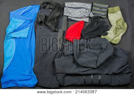 Sample Set Of Clothes For Hiking.