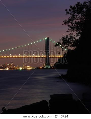 Gwb And Nyc Sunset 002