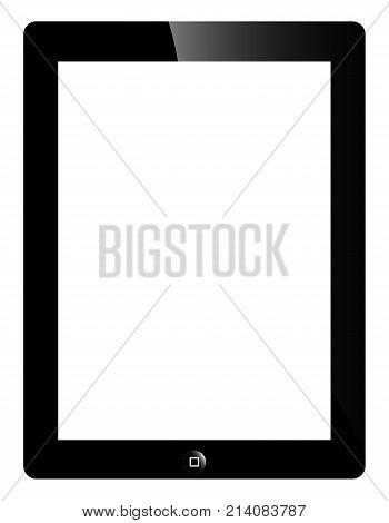 Tablet PC IPAD 2, vector art illustration.