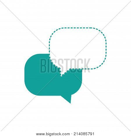 dotted shape chat bubbles message text notes vector illustration