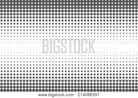 Abstract Black And White Dots Background. Comic Pop Art Style. Light Effect. Gradient Background Wit