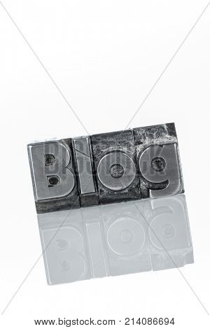 blog in lead letters