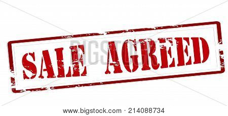 Rubber stamp with text sale agreed inside vector illustration