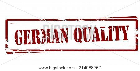 Rubber stamp with text German quality inside vector illustration