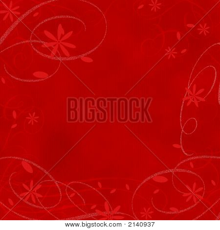 Background Xmas Red Flowers
