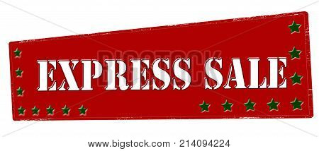 Rubber stamp with text express sale inside vector illustration