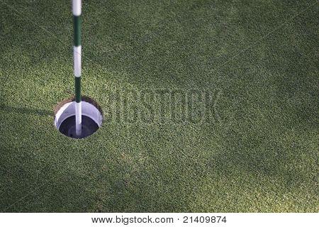 Golf hole.