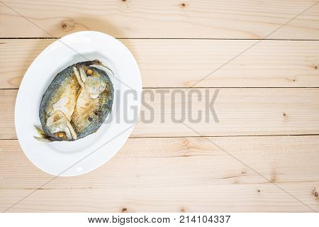 Fried Two Mackerels With White Dish