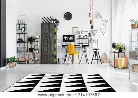 Bright Industrial Room