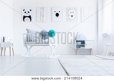 Low Angle Of White Cradle