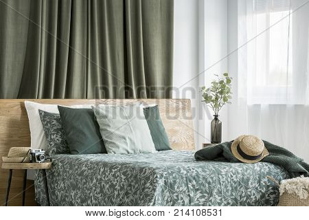 Moss Green Bedroom Interior