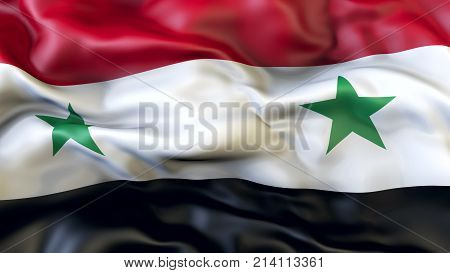 Waving flag of Syria, Patriot of Syria,  illustration, 3d
