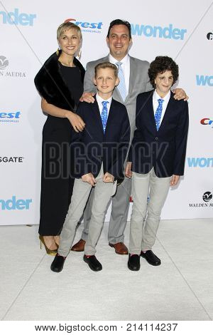 LOS ANGELES - NOV 14:  Nathaniel Newman, Treacher Collins Syndrome, Family at the