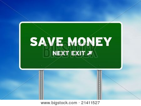 Save Money Highway Sign