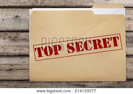 Secret top folder red background object copy