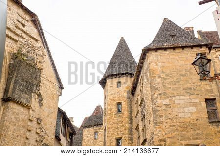 Towers In Sarlat La Caneda Made Of Stone In France