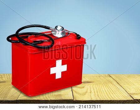 First aid first aid kit white background healthcare and medicine still life medical equipment health care