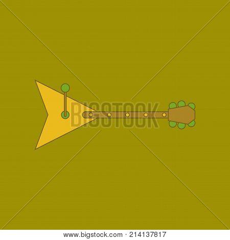 flat icon on stylish background Kids toy balalaika