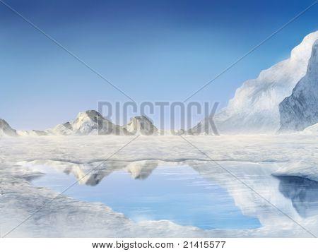 Zugefrorenen See