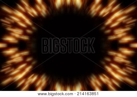 Light Burst with Copy Space on Black Background