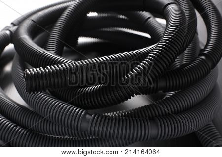 Close Up of a Vacuum Cleaner Hose