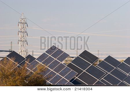 Electric Tower with Solar Panels
