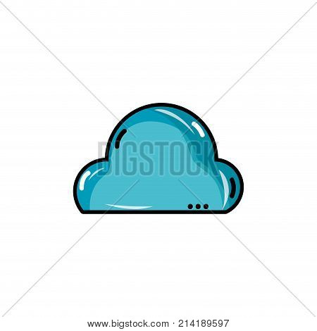 natural cloud in the sky and nice weather design vector illustration