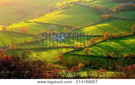 Autumn landscape in East Devon AONB (Area of Outstanding Natural Beauty)