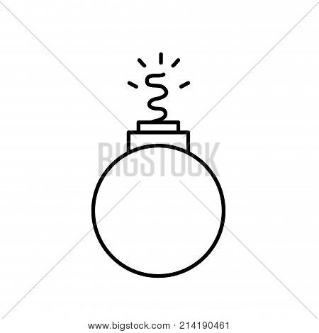 line danger bomb weapon to explode destruction vector illustration
