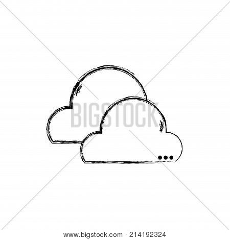 figure natural clouds in the sky and nice weather design vector illustration