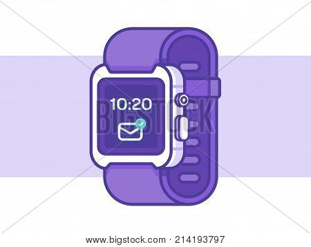 Smart Watch Icon. Hand Watch Vector Illustration