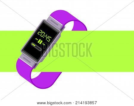 Smart Watch Vector Illustration. Watch isolated on white