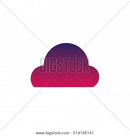 silhouette natural cloud in the sky and nice weather design vector illustration