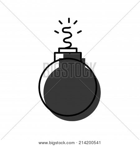 danger bomb weapon to explode destruction vector illustration