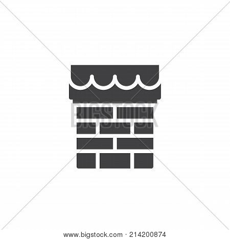 Christmas chimney icon vector, filled flat sign, solid pictogram isolated on white. Symbol, logo illustration.