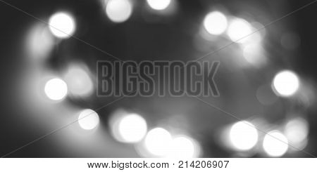 Black and white unfocused lights abstract background
