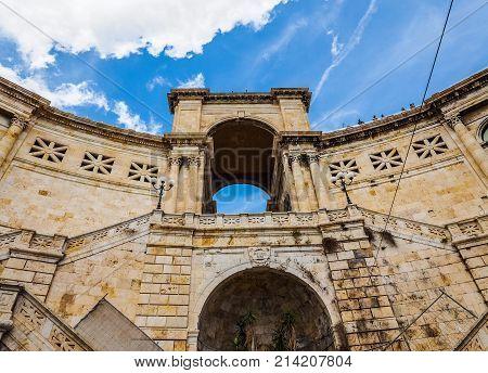 Bastione Saint Remy In Cagliari (hdr) (hdr)