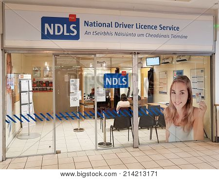 Ennis Ireland - Nov 17th 2017: NDLS National Driver Licence Service dedicated service which will receive applications for learner permits and driver licences.