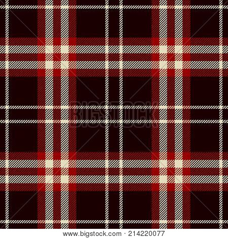 Tartan Seamless Pattern Background. Red Black and White Plaid Tartan Flannel Shirt Patterns. Trendy Tiles Vector Illustration for Wallpapers