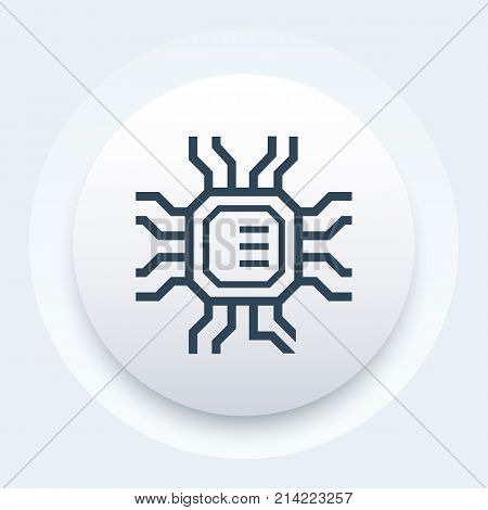 chipset, microchip, microelectronics icon, vector illustration, eps 10 file, easy to edit