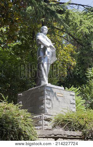 Lazarevskoe, Sochi, Krasnodar region, Russia - June 29, 2014: Monument to Lenin in Lazarevskoye