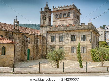 Monastery Vilavella on the Camino de Santiago trail, Redondela, Spain