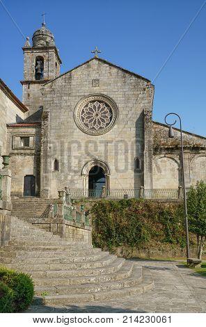 Old church of San Francisco, sights of Pontevedra on the Camino de Santiago trail, Spain
