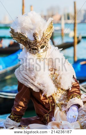 Disguised Person At The Carnival Of Venice