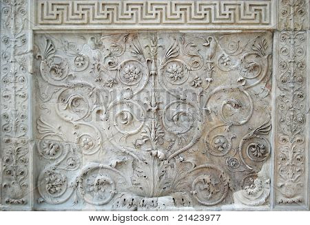 Fragment of Tellus Panel moulding. Ara Pacis in Rome poster