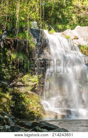 Beautiful waterfall in Cabreia Sever do Vouga Aveiro Portugal